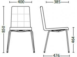 Характеристики: Стілець для кафе і бару: Sofi II