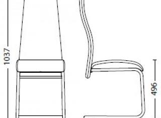 Характеристики: Стілець для кафе і бару: Tailer_CF