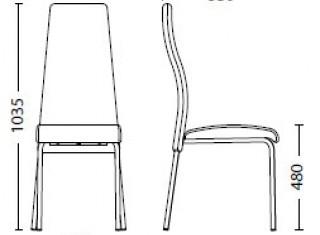 Характеристики: Стілець для кафе і бару: Tailer