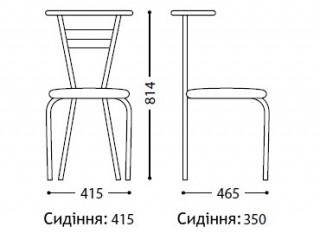 Характеристики: Стілець для кафе і бару: Tina chrome