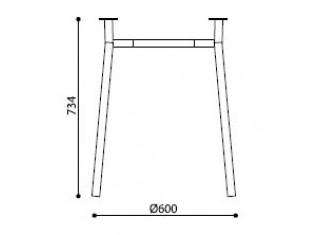Характеристики: Ніжка для столу: Tiramisu