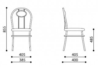 Характеристики: Стілець для кафе і бару: Tiziano