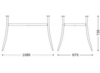 Характеристики: Ніжка для столу: Tracy Duo chrome