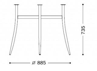 Характеристики: Ніжка для столу: Tracy chrome