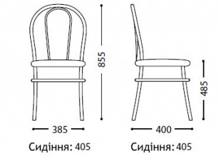 Характеристики: Стілець для кафе і бару: Florino