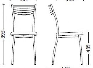 Характеристики: Стілець для кафе і бару: Viola