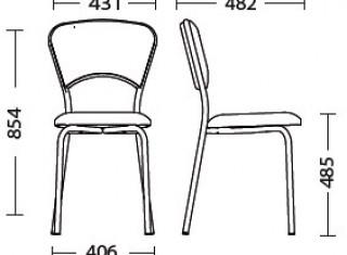 Характеристики: Стілець для кафе і бару: VULKANO plus