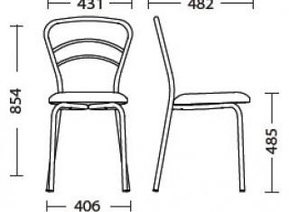 Характеристики: Стілець для кафе і бару: Vulkano