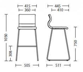 Характеристики: стілець барний високий: Cleo hoker