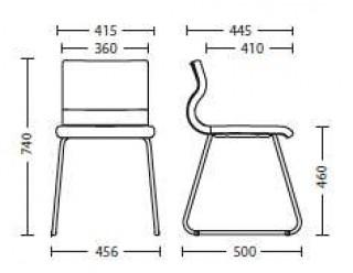 Характеристики: Стілець для кафе і бару: CLeo