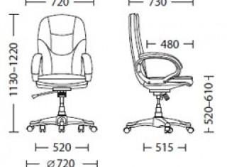 Характеристики: Крісло для керівника: Bonn