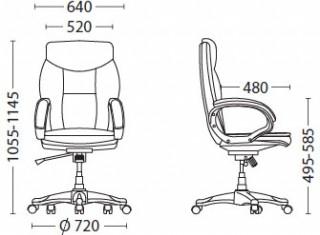 Характеристики: Крісло для керівника: Cruise
