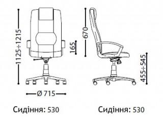 Характеристики: Крісло для керівника: Rino-В