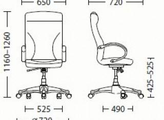 Характеристики: Крісло для керівника: Riga