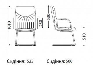Характеристики: Крісло конференційне: Swing CF LB