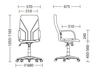 Характеристики: Крісло для керівника: Manager KD