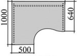 Характеристики: Стіл офісний: Стіл кутовий СП-144