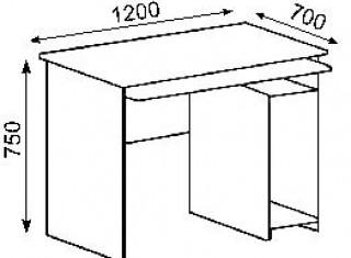 Характеристики: Стіл офісний:  CTK-122
