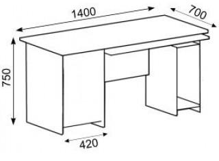 Характеристики: Стіл офісний:  CTK-125