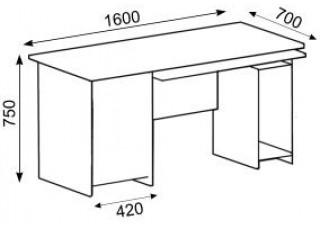 Характеристики: Стіл офісний:  CTK-126