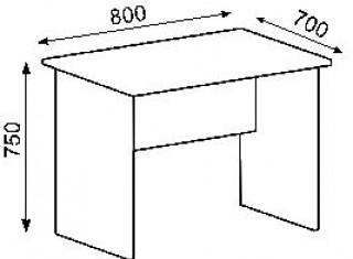 Характеристики: Стіл офісний:  CTK-120