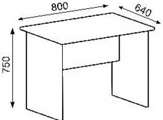 Характеристики: Стіл офісний:  СТ-101