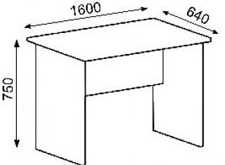 Характеристики: Стіл офісний:  СТ-105