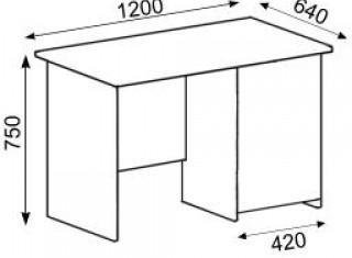 Характеристики: Стіл офісний: CT-108