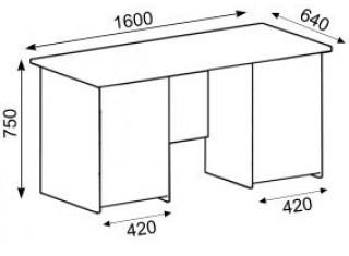 Характеристики: Стіл офісний:  CT-110