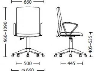 Характеристики: Крісло для персоналу: Cubik GTP