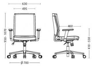Характеристики: Крісло для персоналу: Madame R