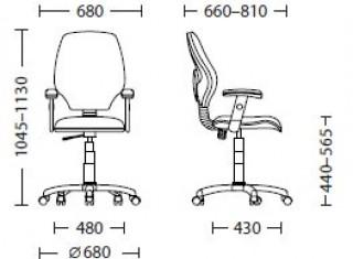 Характеристики: Крісло для персоналу: Master freestyle