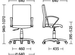 Характеристики: Крісло для персоналу: Neo