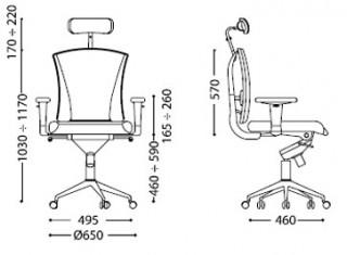 Характеристики: Крісло для персоналу: Pilot