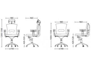Характеристики: Крісло для персоналу: Pilot Net