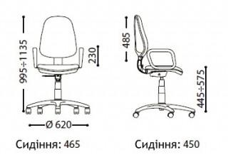 Характеристики: Крісло для персоналу: Comfort GTP