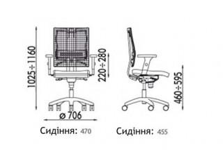 Характеристики: Крісло для персоналу: @-motion R HR
