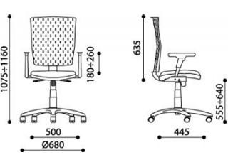 Характеристики: Крісло для персоналу: Evolution R