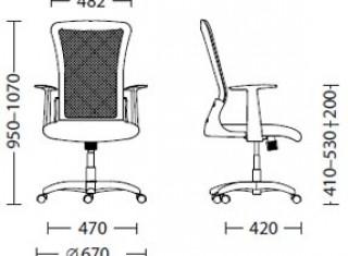 Характеристики: Крісло для персоналу: Gamma