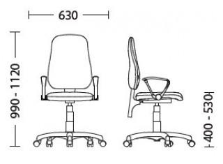 Характеристики: Крісло для персоналу: Offix GTP