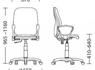 Характеристики: Крісло для персоналу: Point GTP