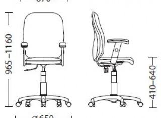 Характеристики: Крісло для персоналу: Point GTR