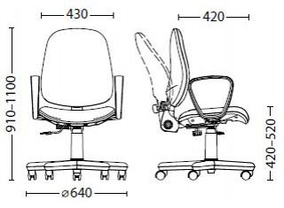 Характеристики: Крісло для персоналу: Forex
