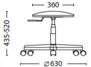 Характеристики: Крісло для персоналу: Stool