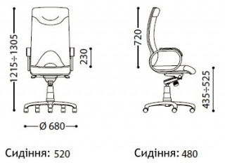 Характеристики: Крісло преміум: Elf