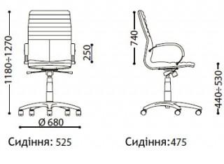 Характеристики: Крісло преміум: Galaxy