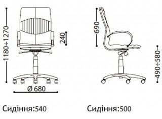 Характеристики: Крісло преміум: Germes Steel Chrome