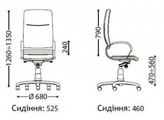 Характеристики: Крісло преміум: Nova