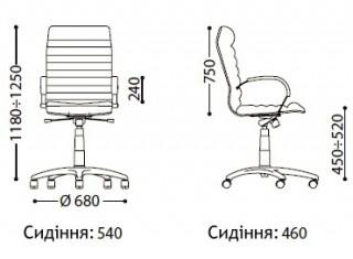 Характеристики: Крісло преміум: Orion Steel Chrome