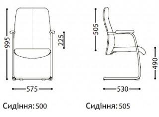 Характеристики: Крісло конференційне: Sonata CF LB